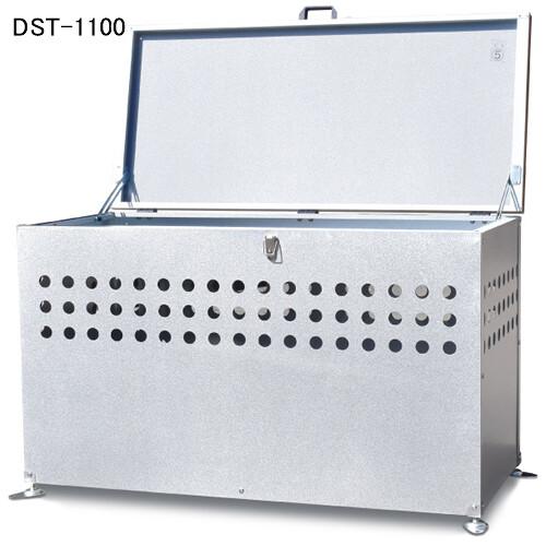 ガルバ鋼板製 ふた付 ダストボックス(ごみ箱) DST-1100 メタルテック 300L【地域別運賃】【条件付送料無料】