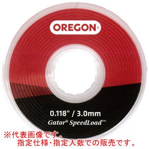 ゲーター スピードロード 交換用ナイロンコードディスク ヘッド大(L)用 #24-595-25 オレゴン(OREGON) 2.4mm*7.0m*25枚入