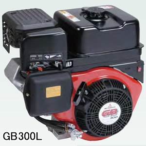4ストローク OHVガソリンエンジン GB300LN-100 三菱重工メイキエンジン(MITSUBISHI/ミツビシメイキ) 296cc 1/2カム軸減速式 セル無し