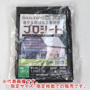 プロシート #3500 ブラウン 7.2x7.2m 2枚セット 南栄工業【法人値引有】
