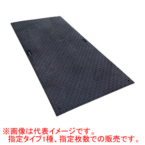 工事用 樹脂製 養生敷板 Wボード 片面凸 黒 1x2 10枚セット ウッドプラスチックテクノロジー 1000*2000*15mm/枚【法人のみ】