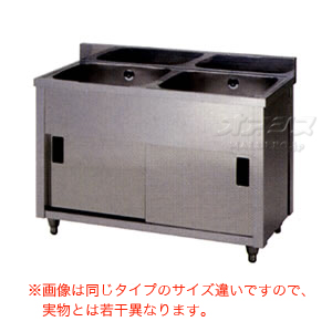 二槽キャビネットシンク AP2-1200K 東製作所(azuma) 【法人様向け】