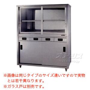 食器戸棚 片面引出し付片面引違戸 ACSO-1500K 東製作所(azuma) 【法人様向け】