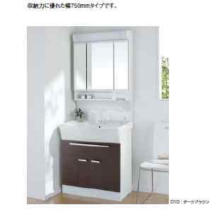 アサヒ洗面化粧台 三面鏡 くもり止めヒーター付 750mm LTK4800KU+M753TSH アサヒ衛陶