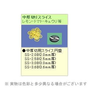 SS-250C用刃物円盤 中厚切用 SS-2.5B(2.5mm厚) (株)中部コーポレーション