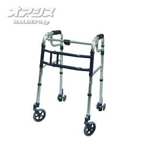 歩行器 スライドフィット 4インチWキャスター スタンダード 室内・屋外兼用 L-0194W ロータイプ ユーバ産業