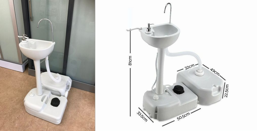 どこでも使えるポータブル手洗器と排水タンクセットkots-7701