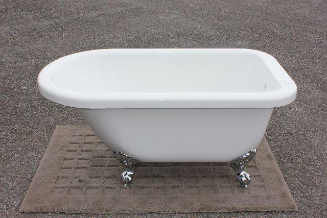 猫足バスタブ 浴槽 猫脚バスタブ 幅1350 バスタブ 浴そう お風呂 置き型 洋式 エレガント アンティーク アクリル製 猫足バスタブ KOA223-1350G ゴム栓タイプ