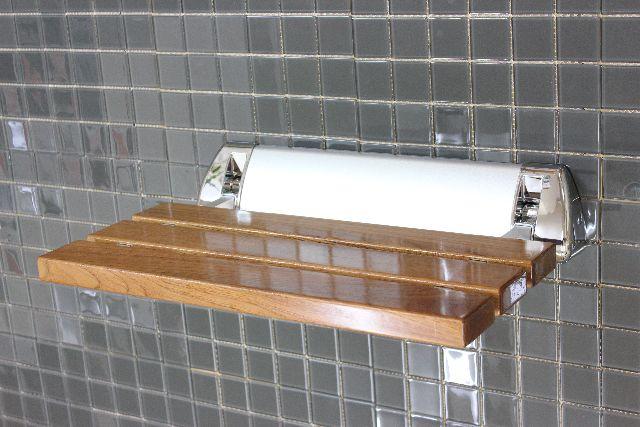折りたたみ 椅子 イス 浴室用椅子 風呂イス シャワーチェア 木製 壁付け椅子 介護用椅子 子供用いす 補助椅子 浴室 玄関 折りたたみ式 椅子(イス) KOC-D3 large