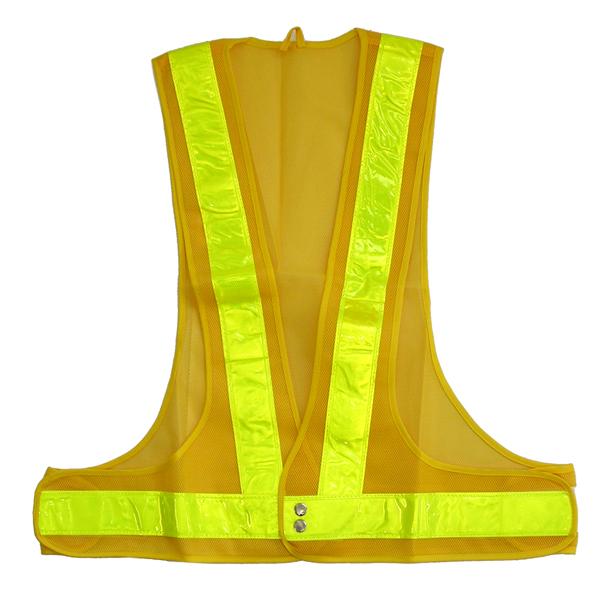 10着以上のまとめ買いで送料無料 警備 工事に安全チョッキ ディスカウント 反射ベスト黄メッシュ AL完売しました 黄ライン反射ライン幅:70mm 安全ベスト