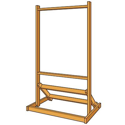 エコラク枠 木枠 現場で簡単に設置!エコノミータイプ シングルサイズ
