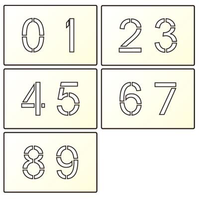 マーキンGoo(文字サイズ175mm)数字「0~9」