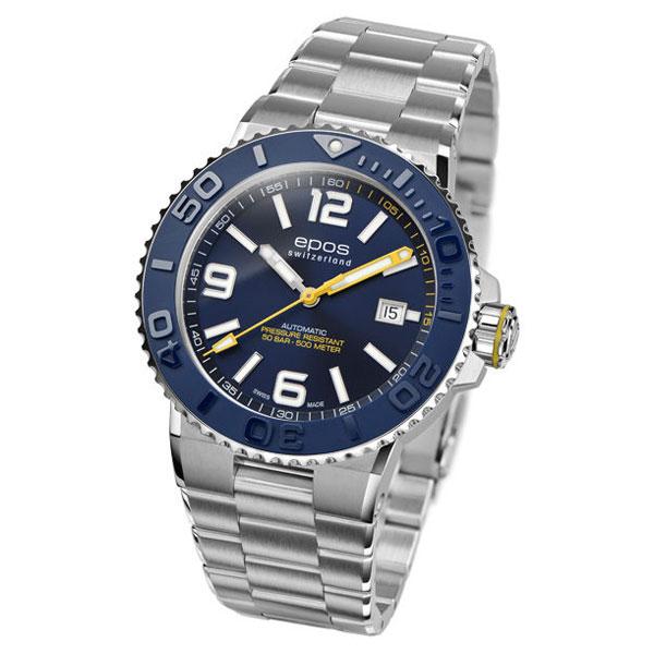 EPOS SPORTIVE エポス スポーティブ 3441ABLM ダイバーズ 500m防水 自動巻 機械式 メンズ腕時計 国内正規品 送料無料 メーカー正規2年間保証付