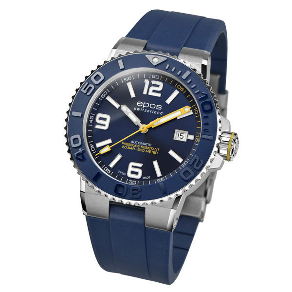 EPOS SPORTIVE エポス スポーティブ 3441ABLR ダイバーズ 500m防水 自動巻 機械式 メンズ腕時計 国内正規品 送料無料 メーカー正規2年間保証付