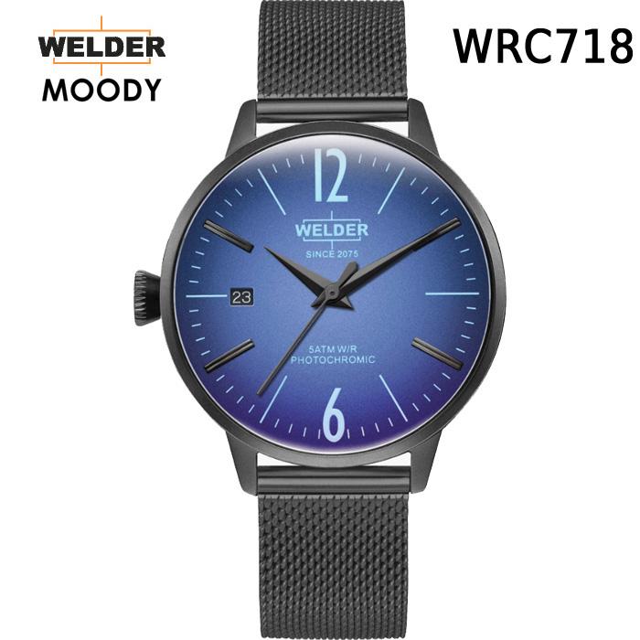 絶対目立つ腕時計【国内正規品】WELDER MOODY 3HANDS ウェルダー ムーディー WRC718 腕時計 ケースサイズ36mm メッシュバンド ブラックモデル 男女兼用 送料無料 インスタ映え SNS映え おしゃれ