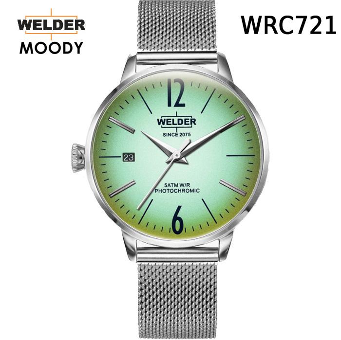 絶対目立つ腕時計【国内正規品】WELDER MOODY ウェルダー ムーディー WRC721 腕時計 ケースサイズ36mm メッシュバンド STEEL スティールモデル 男女兼用 送料無料 インスタ映え SNS映え おしゃれ
