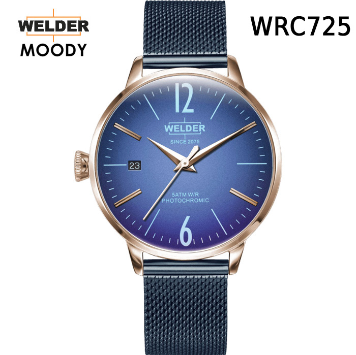 絶対目立つ腕時計【国内正規品】WELDER MOODY 3HANDS ウェルダー ムーディー WRC725 腕時計 ケースサイズ36mm メッシュバンド ローズゴールドモデル 男女兼用 送料無料 インスタ映え SNS映え おしゃれ