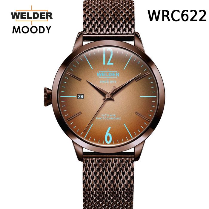 絶対目立つ腕時計【国内正規品】WELDER MOODY 3HANDS ウェルダー ムーディー WRC622 腕時計 ケースサイズ38mm メッシュバンド チョコレートモデル 男女兼用 送料無料 インスタ映え SNS映え おしゃれ