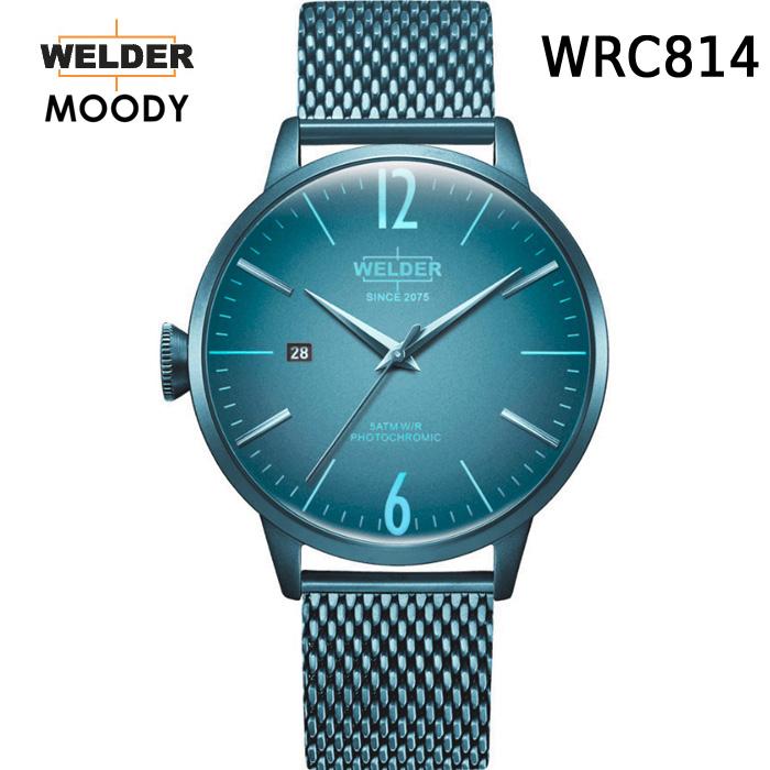 絶対目立つ腕時計【国内正規品】WELDER MOODY 3HANDS ウェルダー ムーディー WRC814 腕時計 ケースサイズ42mm メッシュバンド アイスブルーモデル 男女兼用 送料無料 インスタ映え SNS映え おしゃれ