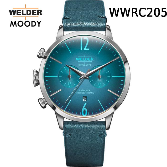 これから絶対流行ります!ヨーロッパで人気のガラスの色が変わる時計 WELDER MOODY WWRC205 DUAL TIME ウェルダー ムーディー デュアルタイム 腕時計 ケースサイズ42mmタイプ 国内正規品 男女兼用 送料無料 メーカー正規2年間保証付