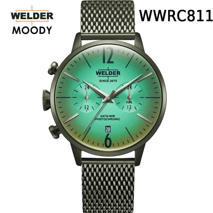 絶対目立つ腕時計【国内正規品】WELDER MOODY WWRC811 DUAL TIME ウェルダー ムーディー デュアルタイム 腕時計 ケースサイズ42mmタイプ オリーブ 男女兼用 送料無料 インスタ映え SNS映え おしゃれ