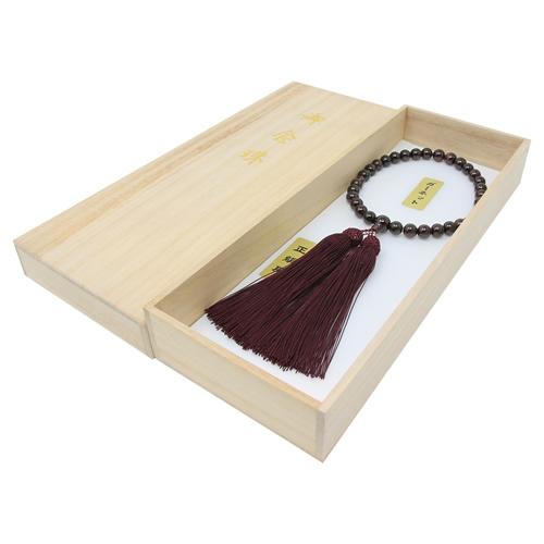 【送料無料!!】京念誦 片手数珠 ガーネット 42珠 女性用 全宗派対応 数珠袋プレゼント