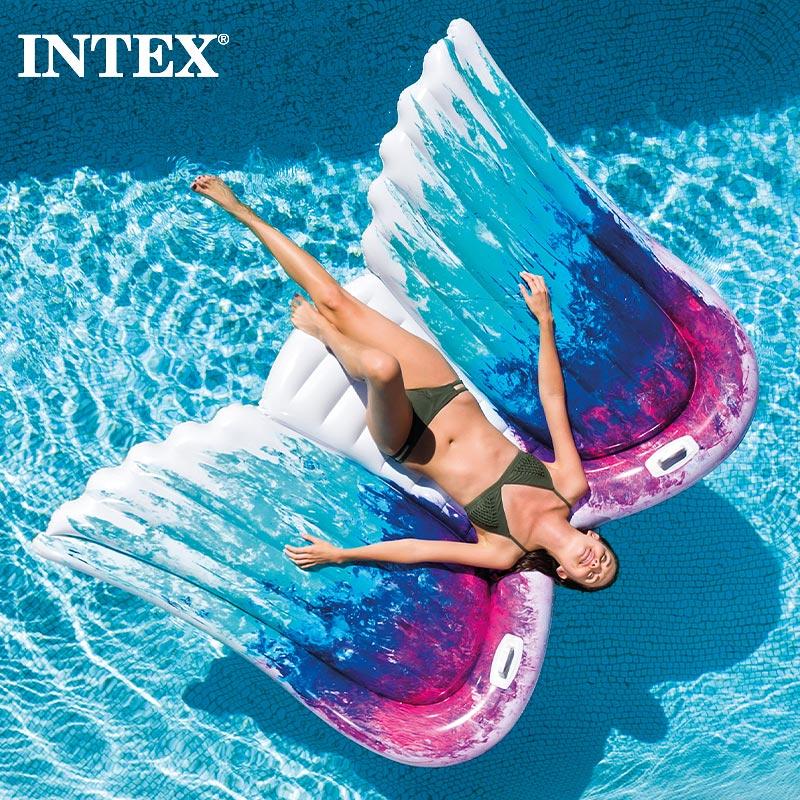 INTEX 休日 の浮き輪 エンジェルウィングマット インテックス キッズ 大人用浮き輪 58786 送料無料カード決済可能 フロート 羽根 浮き袋 インスタ映え こども用 男の子用 子供用 女の子用 ジュニア SUMMER 海水浴 2021 ビーチ プール