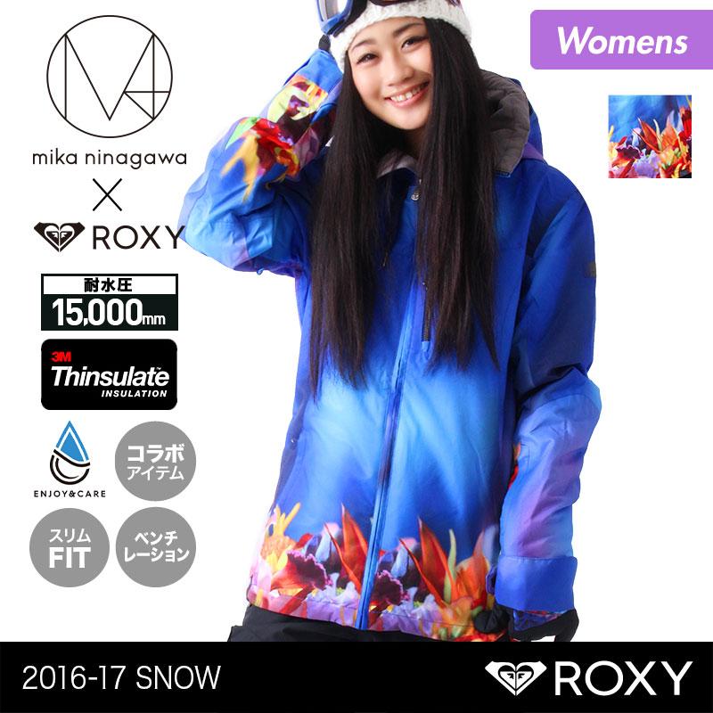 スノーボードウェア スキーウェア ロキシー ROXY レディース ボードウェア ジャケット ERJTJ03088 蜷川実花コラボモデル MIKA NINAGAWA スノージャケット スノボウェア スノボーウェア 上 スノーウェア ウエア 女性用
