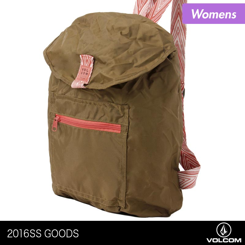 15eb22f7d96a VOLCOM/ボルコムレディース折りたたみリュックサックE6511600デイパックバックパック軽量かばん鞄カバン女性