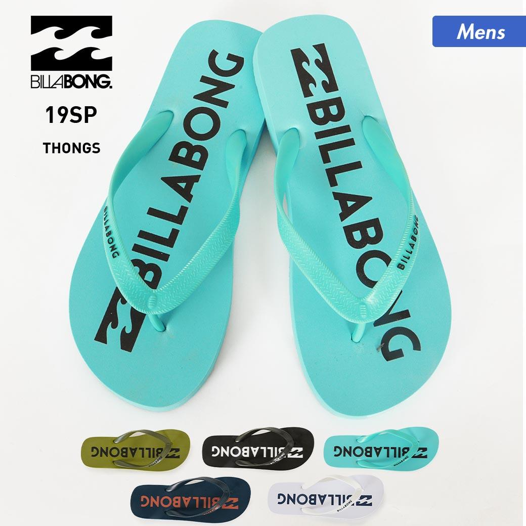 【キャッシュレス5%還元】 BILLABONG/ビラボン メンズ ビーチサンダル AJ011-963 ビーサン さんだる ペタサンダル 単色 ロゴ ビーチ 海水浴 プール 男性用