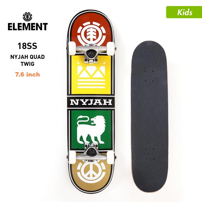 店内全品P10倍 ELEMENT/エレメント キッズ スケートボード コンプリートデッキ 7.625インチ AI027-414 スケボー デッキ トラック ウィール セット ジュニア 子供用 こども用 男の子用 女の子用