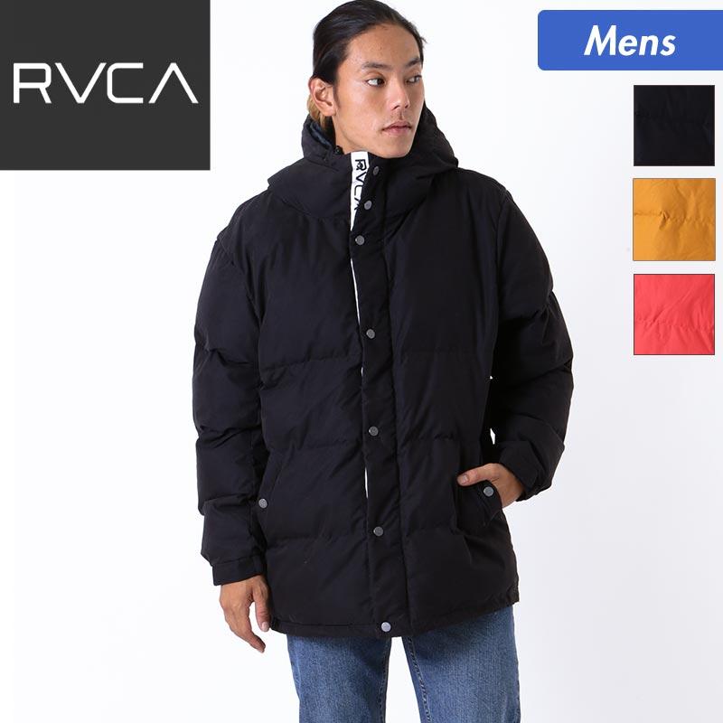 RVCA/ルーカ メンズ 中綿入り アウタージャケット AI042-760 上着 綿入れ 防寒 ロゴ入り 長袖 ダウンアウター 男性用