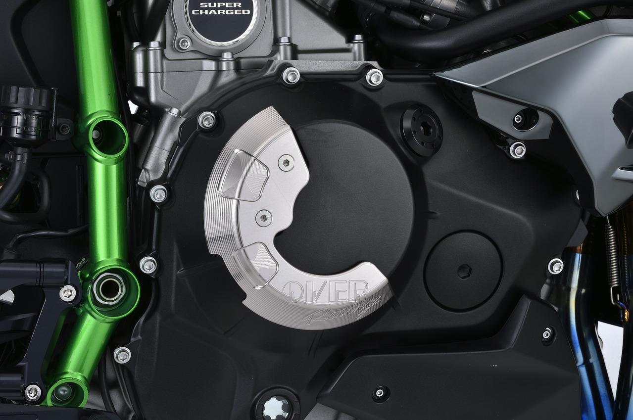 【送料無料】【メーカーお取り寄せ商品】【Kawasaki Ninja H2(15)】OVER Racing オーヴァーレーシング クラッチカバー(R) 57-87-11 チタンアルマイト仕上げ
