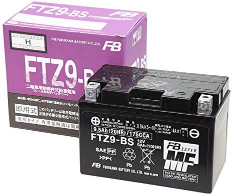 新着!!FURUKAWA [ 古河電池 ] FTZ9-BS(YTX9-BS/RBTX9-BS/DTX9-BS 互換)液入充電済バッテリー メンテナンスフリー 古河バッテリー(古河電池)安心の正規品