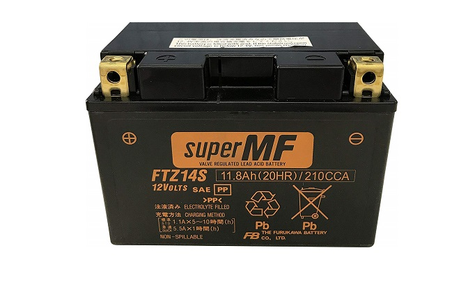 新着!!FURUKAWA [ 古河電池 ] FTZ14S シールド型 バイク用バッテリー [ FTシリーズ ]  安心の正規品