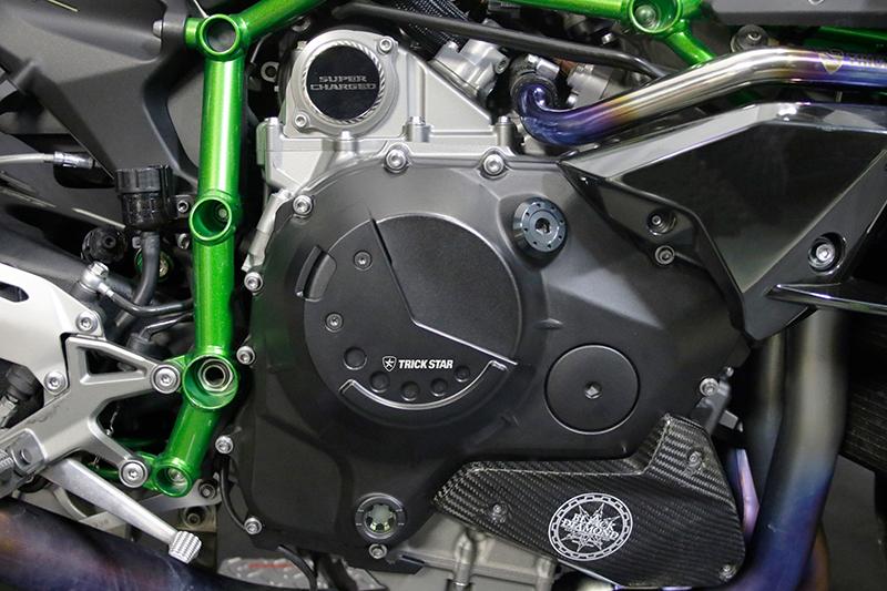 【送料無料】【メーカーお取り寄せ商品】【Kawasaki NinjaH2/NinjaH2 SX SE SE+/Z H2】TRICK STAR トリックスター モーターアーマー クラッチカバー EC-H01-C