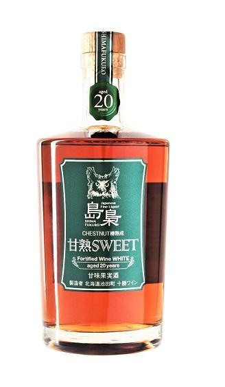 十勝ワイン 島梟 甘熟SWEETホワイト 新色追加して再販 40%OFFの激安セール 20年 甘味果実酒 500ML 白18度