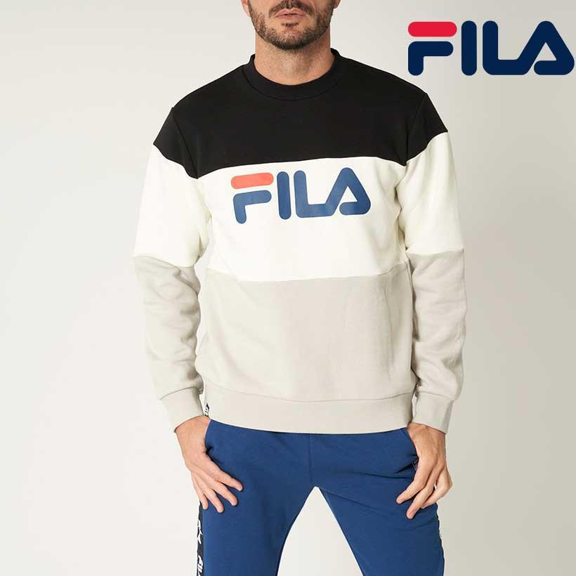 FILA GOLF フィラ ゴルフ トレーナー 本物 無地切替 送料無料新品 メンズ ビックロゴ クルートレーナー UV 秋冬 保温