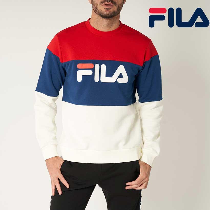 FILA GOLF フィラ ゴルフ 無地切替 ビックロゴ クルートレーナー 保温 本物 秋冬 UV 人気ショップが最安値挑戦 メンズ