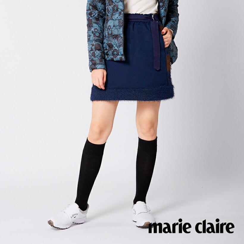 marie 送料無料 claire マリ.クレール 予約販売品 レディスゴルフニット切替スカート SPORT マリクレール