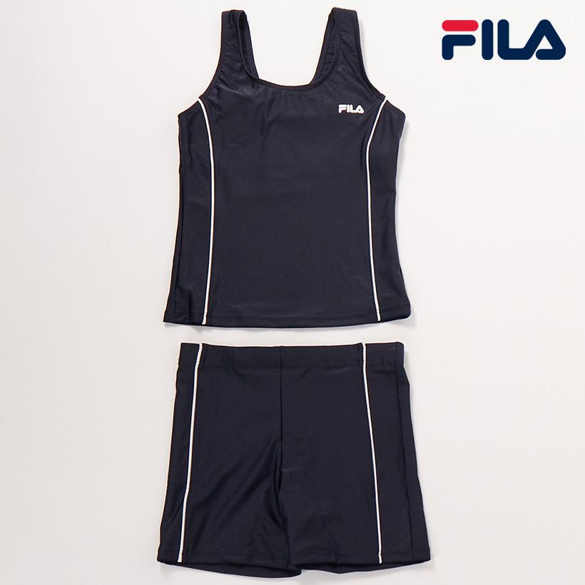 フィラ スーパーセール 女児スクールタンキニ水着 スクール水着 至上 キッズ 限定特価 女の子 セパレートタイプ サイズ140cm以上カップ差し込み口あり