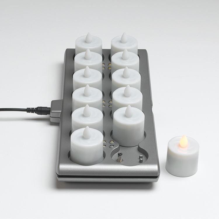 LEDキャンドル 充電 12個 セット 送料無料 Smart Candle Platinum おしゃれ レトロ クリスマス パーティー イベント テーブルウェア