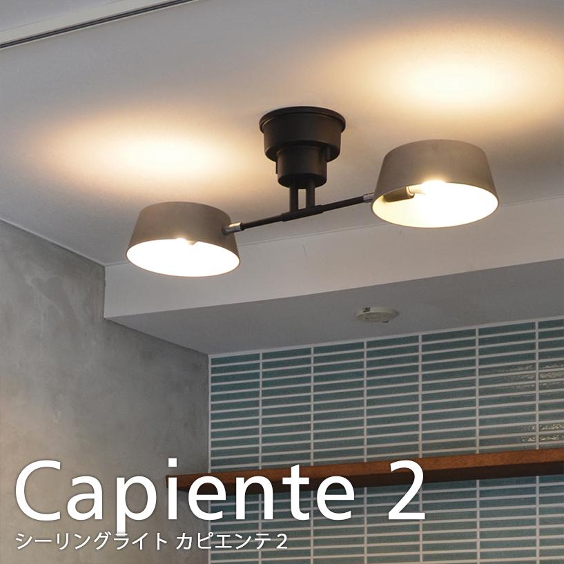Capiente2 カピエンテ2 2灯シーリングライト LED電球 使用可 ペンダントライト モダン 照明 電気 北欧 リビング 寝室 おしゃれ