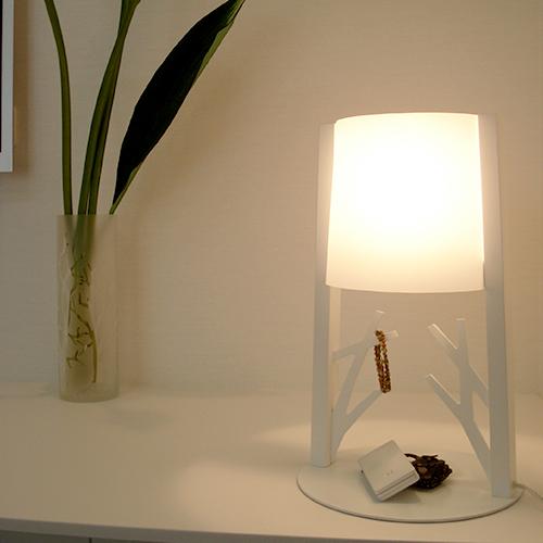 送料無料 LED電球 使用可 テーブル スタンド ライト 北欧 フレイムスフォレストライト DS-049 日本製 【Flames】フレイムス おしゃれ レトロ