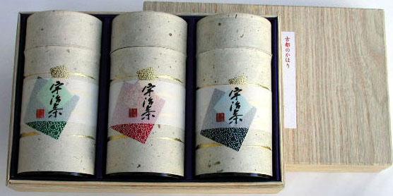 高級 和染缶3本箱入 宇治茶/玉露/煎茶