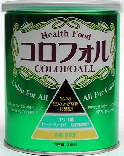 コロフォル ・丹波黒(きな粉)360g×6缶(ケース販売)