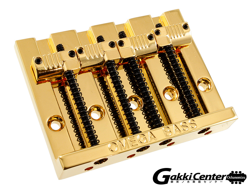 Allparts 4-String Grooved Omega Bass Bridge Gold/6076