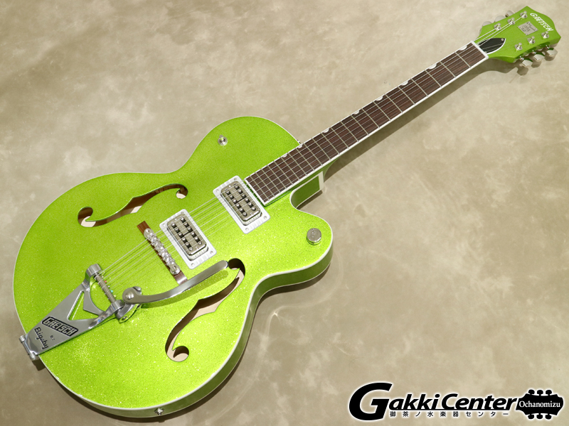 Gretsch G6120T-HR Brian Setzer Signature Hot Rod Hollow Body with Bigsby / Extreme Coolant Green Sparkle【シリアルNo:JT19104200/3.2kg】
