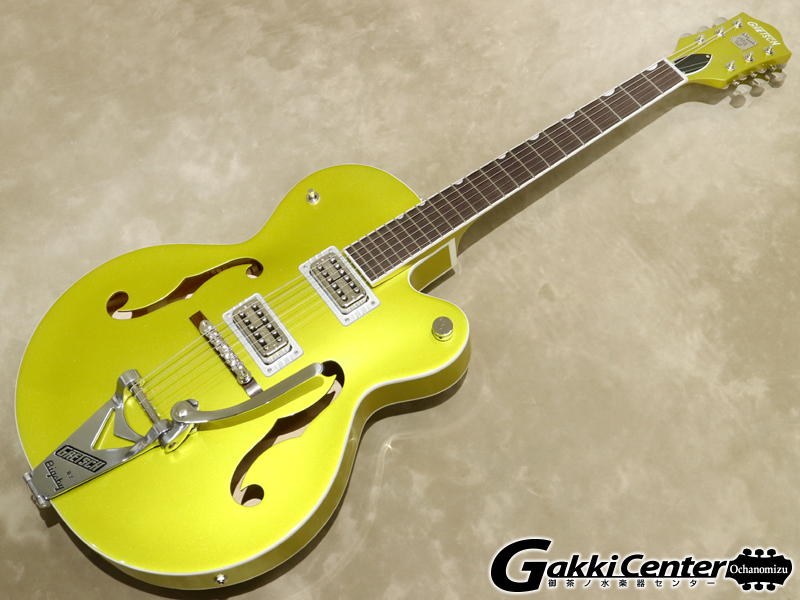 Gretsch G6120T-HR Brian Setzer Signature Hot Rod Hollow Body with Bigsby / Lime Gold【シリアルNo:JT19104203/3.2kg】