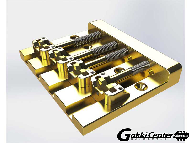 Hipshot 4 String KickAss Bass Bridge Gold【店頭在庫品】